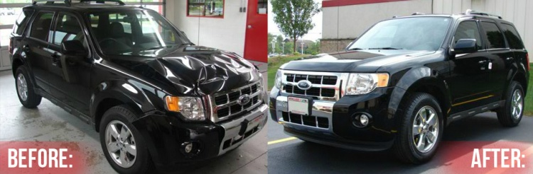 Custom Auto Center Before and After photo